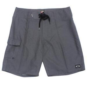 Oakley-CRATER-BEACH-Shorts-Charcoal-Heather-32-M-Mens-Casual-Swim-Boardshort