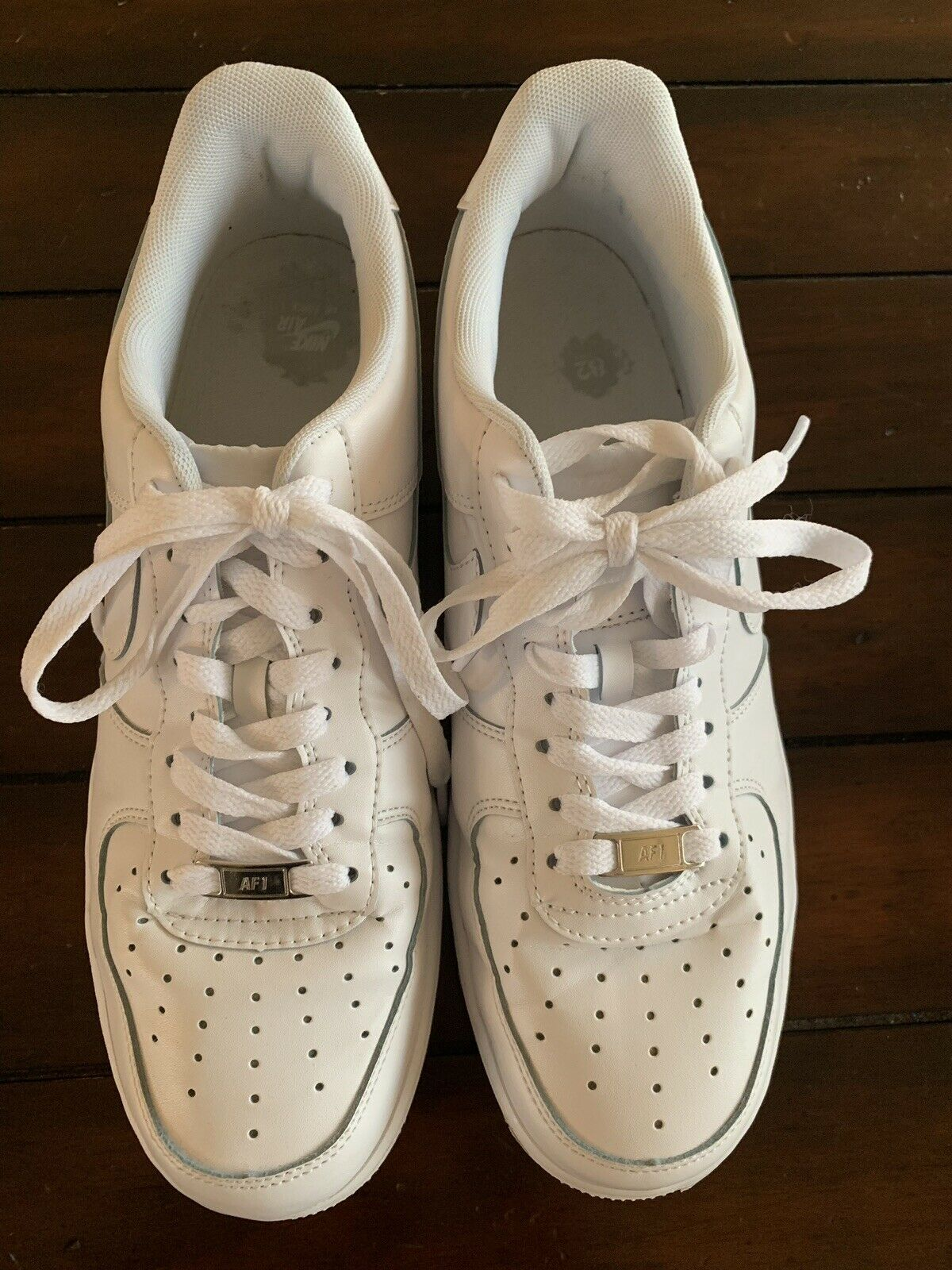 ee85b1e6b144 Men s Nike Air Airforce 1 1 1 Ones 82 All White Low Cut 2008 Size 10 ...