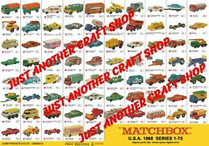 Modelos-Matchbox-Series-1-75-1968-EE-UU-gran-Poster-Signo-ANUNCIO-FOLLETO-Shop-A3