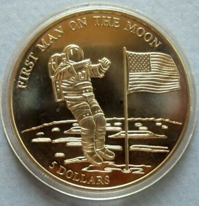 lt-lt-LIBERIA-2000-034-PROOF-034-5-LARGE-DOLLAR-COIN-38-mm-034-1st-MAN-ON-THE-MOON-034