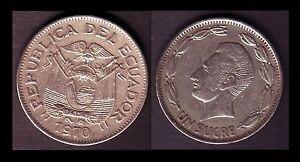 EQUATEUR-ECUADOR-1-SUCRE-1970-E11