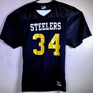 7985d454d VTG NWOT STEELERS  34 Black Bike Football Authentic style Jersey ...