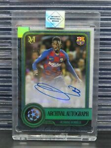 2019-20 Museum UEFA Ousmane Dembele Emerald Autograph Auto #1/1 Barcelona K80