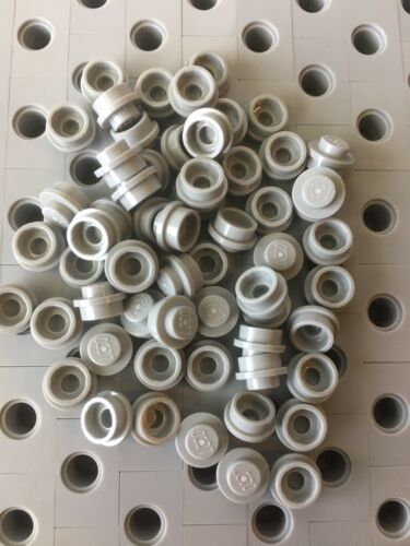 Lego Grey 1X1 Light Gray Round Dot Plates Bricks Stud Caps Lot Of 50