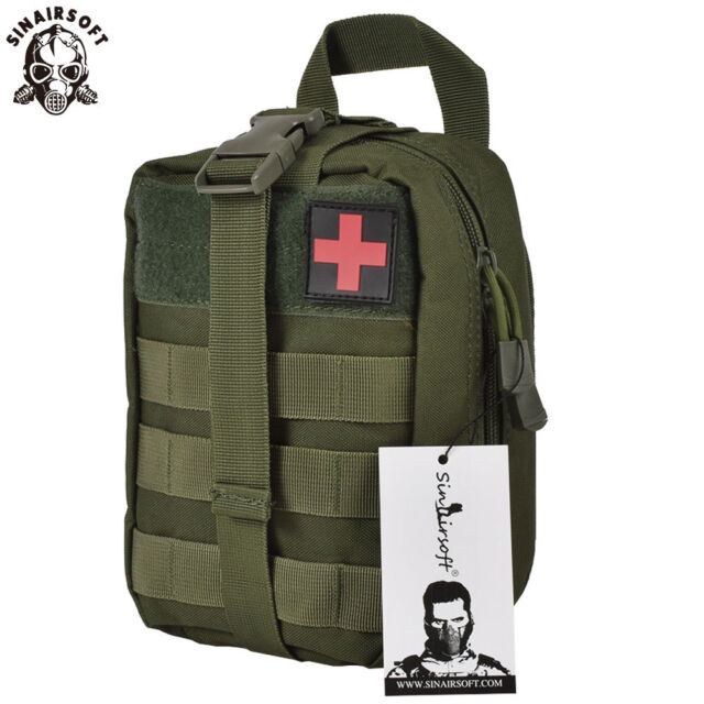 Tactical First Aid Survival Rescue Kit Molle EMT Emergency Pouch Bag Medical OD
