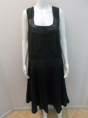 SAGA NEW ZEALAND DESIGNER LINEN BLEND DRESS SIZE 14 (#V1917)   eBay