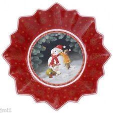 Villeroy & Boch Toy's Fantasy Children Building a Snowman Small Bowl:  #3887