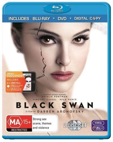 1 of 1 - BLACK SWAN..NATALIE PORTMAN..2 X DISCS..BLU RAY + DVD..NEW & SEALED  dvd321