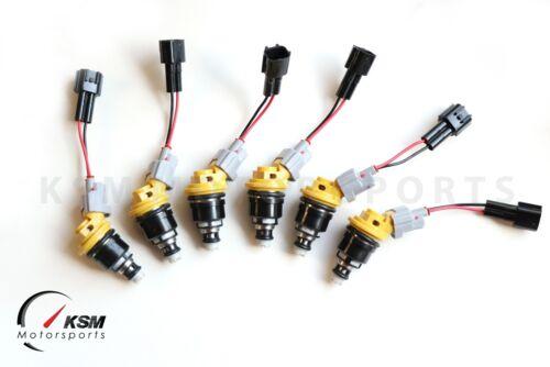 6 550cc 555cc Fuel Injectors fit NISSAN NISMO SKYLINE R33 GTS-T RB25DET E85