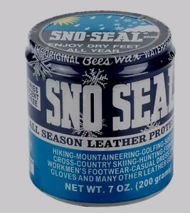 7oz-SNO-SEAL-All-Season-Leather-Protector-Beeswax-WATERPROOFING-Boots-MORE-Atsko