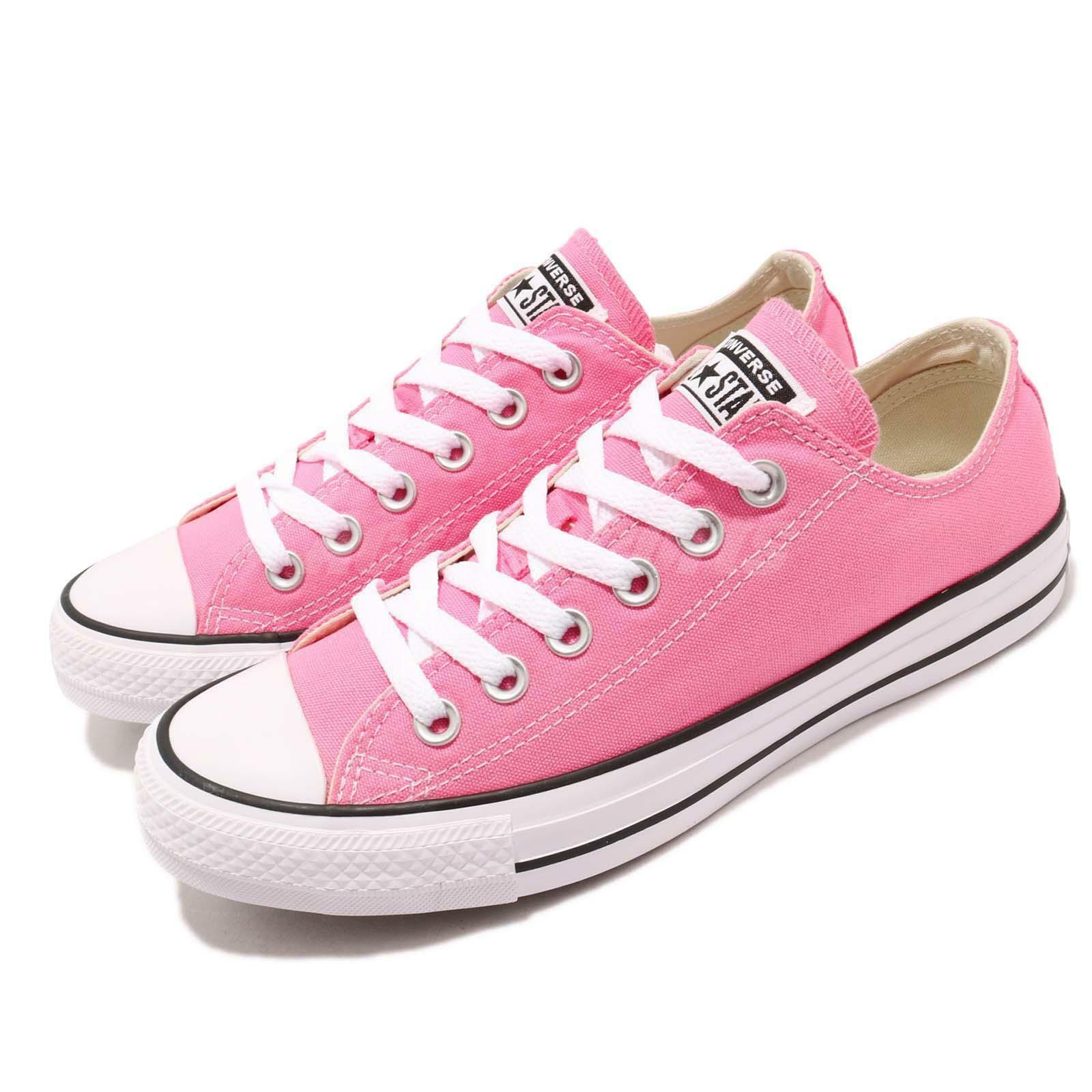 converse chuck taylor faible all star ox faible taylor Rose  Blanc  hommes femmes souliers m9007c 7af1b5
