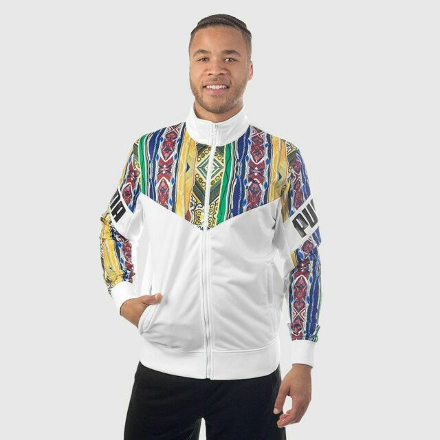 new product 7c311 fcfe5 Puma x Coogi Track Jacket White MEDIUM 575201-01 Multi Australia Cosby  Sweater