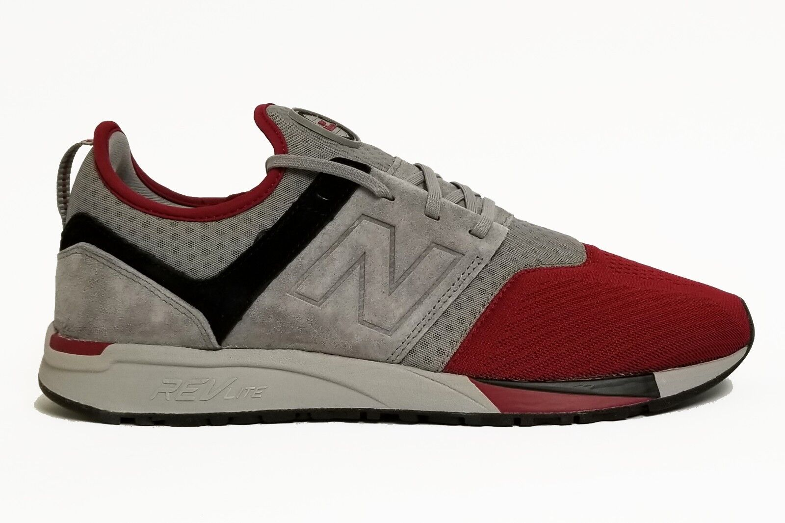 New Balance Men's 247 CLASSIC shoes Grey Burgundy MRL247MD c