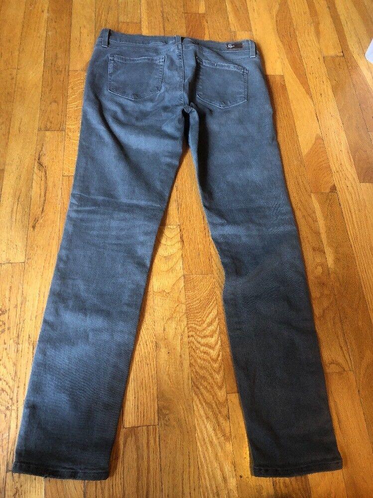 Paige Peg Skinny Jeans Made In USA Sz 29 Stretch Grey