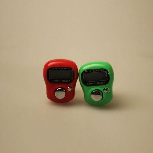 Digital Hand Tally Counter LCD Screen Display Knitting Row Random Color *1PC