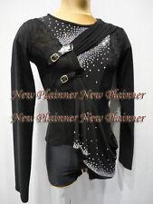 M399 XL size Ballroom Men Latin Salsa Dance Shirt black, lace lycra  Sleeve