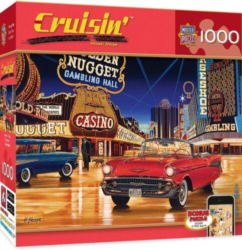 Cruisin Route 66 Dogs Burgers Classic Cars 1000-Piece Jigsaw Gamblin/' Man