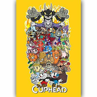 Cuphead Custom Wall Decor Silk Poster
