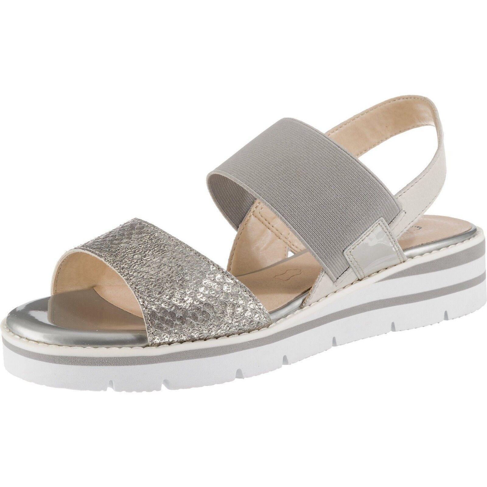 Caprice Scarpe donna sandalo grigio dimensione 38 - 41 28702 Zeppa Sandalo Estate
