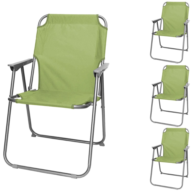 4x Wohaga® Faltstuhl Campingstuhl Gartenstuhl Outdoor Klappstuhl Faltstuhl Wohaga® klappbar Grün ab4e61
