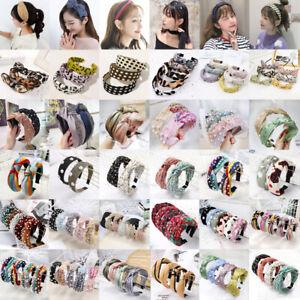 Women's Soft Headband Alice Hair Band Top Knot Fashion Headbands Twist Hairband