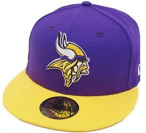 New Era Minnesota Vikings Black White Logo Snapback Cap 9fifty Limited Edition
