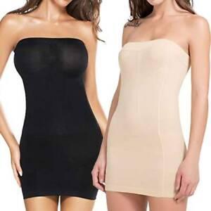 women slip strapless dress seamless shapewear under