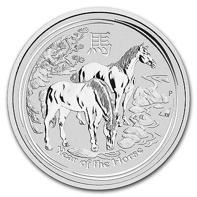 2014 5 oz Silver Australian Perth Mint Lunar Year of the Horse Coin - SKU #78056