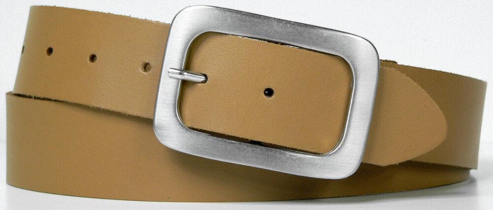 Ledergürtel Unisex in 13 13 13 Farben - Echt Leder Herren & Damen Gürtel - 4 cm breit | Schöne Kunst  9bf7df