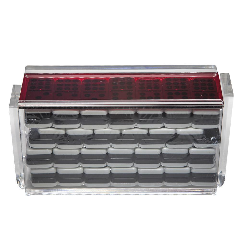 Double 9  El acere  Domino Set-Rouge