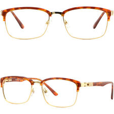Plastic Metal Browline Frame Light Prescription Glasses Sunglasses Tortoiseshell