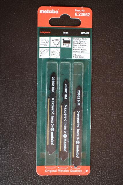 3x Metabo Stichsägeblätter Inox Serie expert 57 / 1,1 mm HM - NEU!!