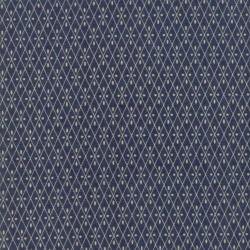 Moda Fabric Vive La France Nemours Indigo Per 1//4 Metre