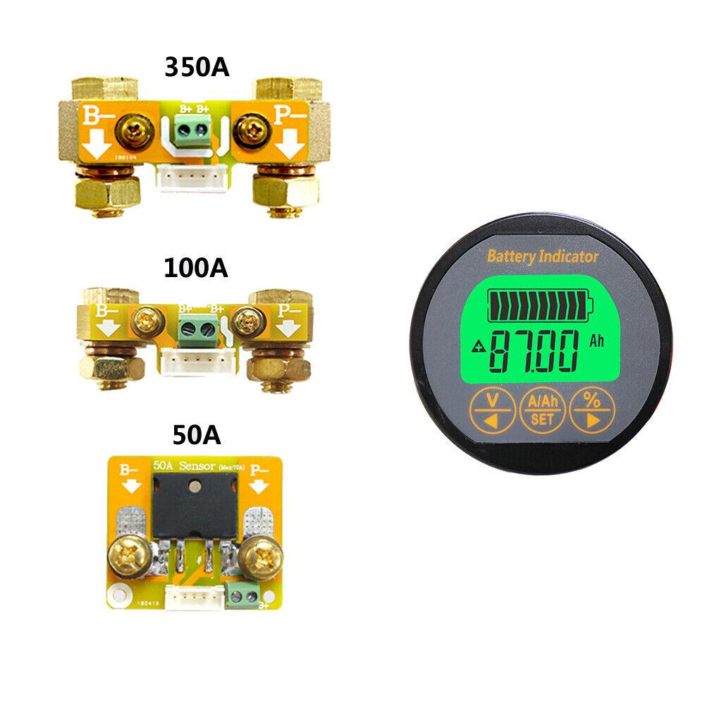 Voltage Current Range 8V-80V 0-100A Voltage Current Meter for Auto Car Motor Boat Caravan RV QWORK Battery Monitor Voltmeter Ammeter