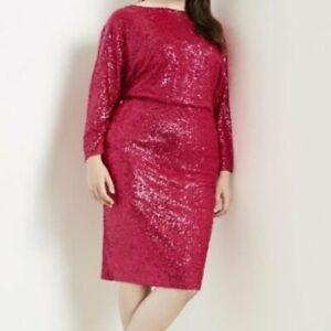 Eloquii-Sequin-Dolman-Sleeve-Dress
