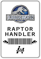 Name Badge Halloween Costume Prop Raptor Handler Jurassic World Safety Pin Back