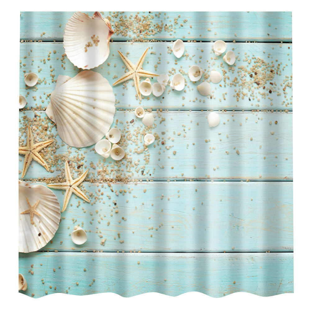 Modern Designer Polyester Bathroom Shower Curtain with 12 Hook 180cm x 180cm