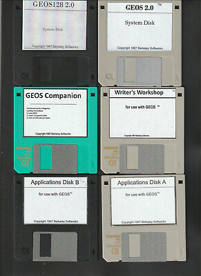 Commodore 64//128 3.5 inch Disks Four GEOS Collection