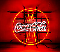 "16""X 16"" Coca Cola Vanilla Beer Bar Pepsi Neon Sign Light Store Open Hand Craft"