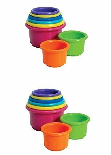 The First Years Stack /& Count Cups for Baby or Toddler 2 Sets
