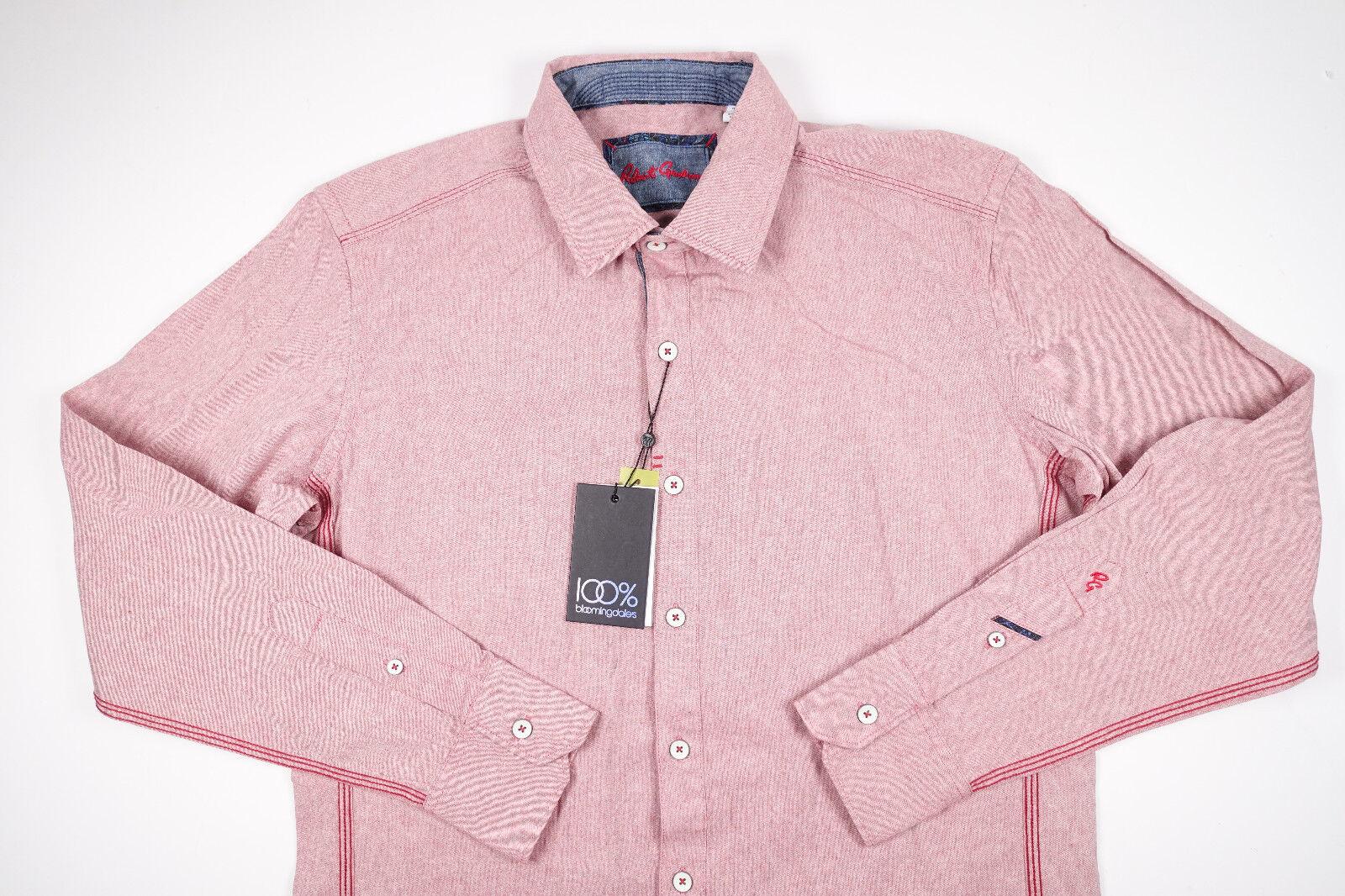 ROBERT GRAHAM Glens Falls Light Red Button Down Long Sleeve Shirt NEW Sm S