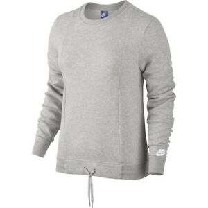 a8364b69ddee Nike Sportswear Women s Crew Sweatshirt S Gray Gym Casual Running ...