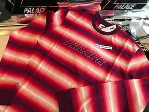 PALACE-SKATEBOARDS-FW16-XLARGE-PINK-FADER-STRIPE-LONG-SLEEVE-LS-TEE-XL-TRI-FERG