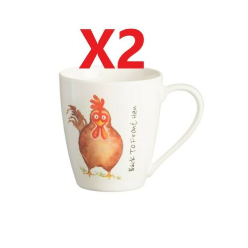 2 x Prix /& Kensington Back to Front poule Fine China mugs