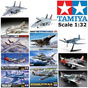 Tamiya 1:32 Model Kits Military Aircraft Fighter Jet WWII Aeroplane Airplane