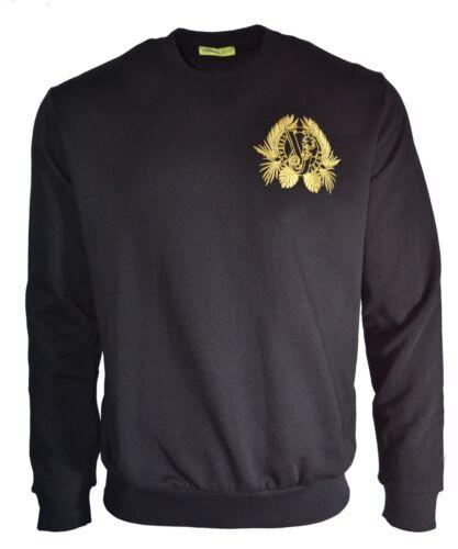 Jersey Tiger oro Jeans logo con en Bjwt Chest de Versace Vj bordado negro SyrZPqS