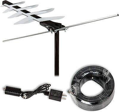LAVA HD-250 Outdoor Antenna, Dish Amplified Digital TV Antenna, Simplest Install | eBay