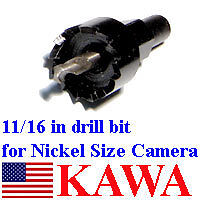 Drill Bit 11//16in for XS Nickel Size Camera NEW