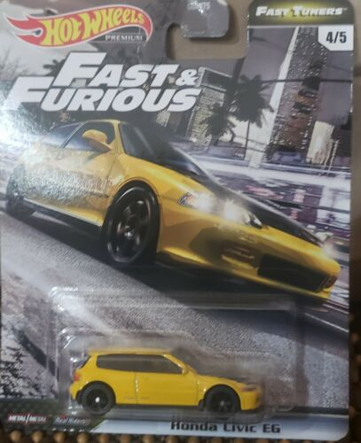 2020 HOT WHEELS FAST AND FURIOUS FAST TUNERS YELLOW HONDA CIVIC