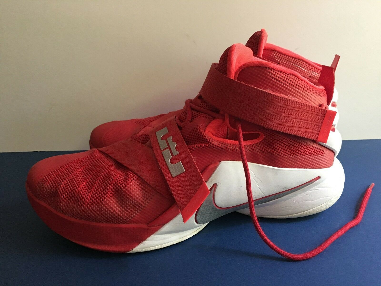 Nike Lebron Red- James Soldier IX TB Basketball Sneakers- Red- Lebron 749498-601 SZ 15 f154ef